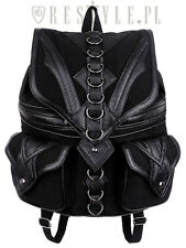Restyle Dragon Goth Punk Rocker Emo 90s D-rings Womens Backpack Handbag Purse
