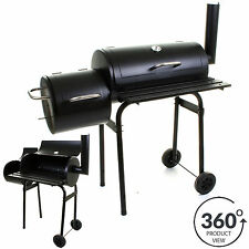 BBQ BARBECUE SMOKER CHARCOAL GRILL OUTDOOR COOKING BLACK PATIO GARDEN PARTY NEW