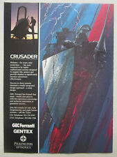 11/1991 PUB GEC FERRANTI GENTEX PILKINGTON CRUSADER HELMET CASQUE AVIATION AD