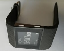 Fitbit Surge Fitness Superwatch LARGE - BLACK with cut and De-glue -READ DETAILS