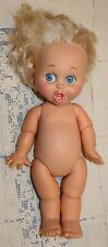 """Vtg 1990 LGTI Baby Face Doll #2 Surprised Suzie Baby Toy 13"""" Galoob Blonde"""