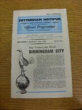 18/08/1962 Tottenham Hotspur v Birmingham City  (creased). Thanks for viewing ou