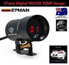 37mm Digital WATER TEMP Gauge *RED LED* Turbo Temperature V8 WRX MPS STI 4WD RB*