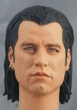 1:6 Custom Head of John Travolta as Vincent Vega from the film Pulp Fiction