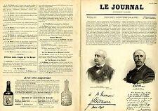 """""""LE JOURNAL Supplément illustré 1900"""": Portraits et Autographes Album MARIANI"""