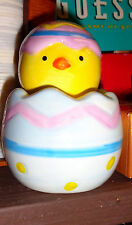 Easter Egg with chick inside Salt and Pepper Shakers