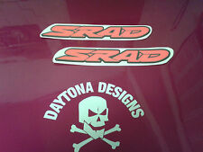 GSXR SRAD DAYGLOW RED & BLACK PAIR SEAT UNIT FAIRING GRAPHICS DECALS STICKERS