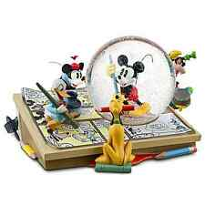 DISNEY COMIC STRIP ARTISTS MICKEY MOUSE DONALD GOOFY PLUTO SNOWGLOBE COLLECTIBLE