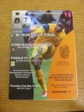 21/05/2015 J W Hunt Cup Final: Stone Old Alleynians v Tividale [At Wolverhampton