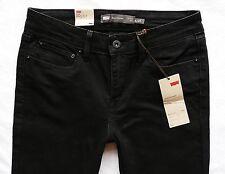 Women's Levis Black slim coupe demi curve black mid rise size 8/10 L W27 L34 L33