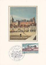 Carte 1er Jour GIEN 18/08/1973 château timbrée