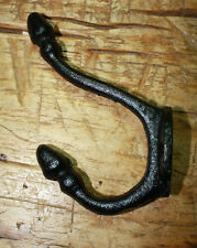 6 Cast Iron BLACK ACORN Style Coat Hooks Hat Hook Rack Hall Tree SCHOOL
