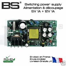 Alimentation industrielle double 5V 1A 12V 1A dual power supply 5V 12V 1A