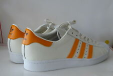 ADIDAS ORIGINALS SUPERSTAR 80's MEN'S SHOES SIZE 10.5 OFF WHITE ORANGE S75842