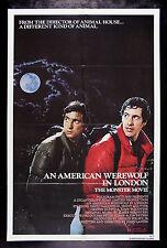 AN AMERICAN WEREWOLF IN LONDON * CineMasterpieces NM-M UNUSED MOVIE POSTER 1981
