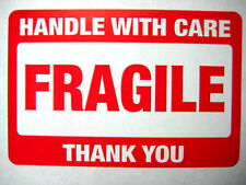 250 2 x 3 Fragile Handle with Care Label Sticker. Plus 10 red smiley stickers.