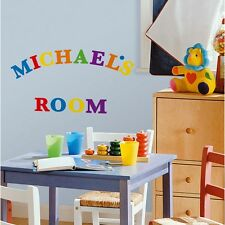 73 New Blue Red Green ALPHABET WALL DECALS Letters Stickers Room ABC Decorations