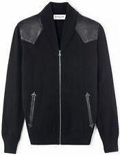 [NEW] EXEMPLAIRE PARIS Men's Black Cashmere Lamb Leather Teddy Jacket L $2785