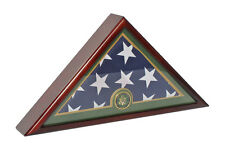 U.S.A Army Funeral Burial Size 5'X9.5' FLAG Display Case-Solid Wood-FC59-MA