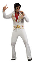 Adult Elvis Presley White Jumpsuit Costume King of Rock & Roll Adult Size Small
