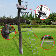 16' Two Man Hunting Ladder Stand Tree Stand Harness Seat Cushion TreeStand New