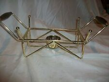 Vintage Gold Metal Pyrex Casserole Dish Warming Stand Holder Cradle Only NICE