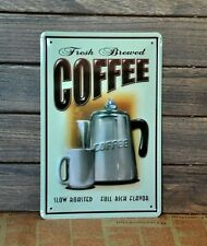 Coffee Metal Tin Sign Vintage Old Time BAR CAFE HOME Retro Wall Decor Decoration