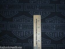 "HARLEY DAVIDSON logo BLACK gray BIKER motorcycle 8"" SQUARE quilt FABRIC lot of 2"