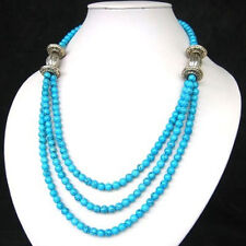 ASIAN 3S TIBET STYLE TIBETAN SILVER TURQUOISE BEADS NECKLACE