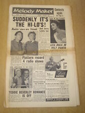 MELODY MAKER 1957 MAY 11 JERRY LEWIS HI-LOS LITA ROZA PLATTERS BEVERLEY SISTERS