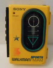 Sony Walkman Sport WM-F45 Bright Yellow Clean Tested Works Missing Headphones