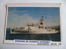 CARTE FICHE NAVIRES DE GUERRE ENSEIGNE DE VAISSEAU JACOUBET 1981 AVISO
