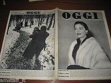 RIVISTA OGGI 1956/47=AVA GARDNER=MARILYN MONROE=DITTATORE TITO=CARLA DEL POGGIO=