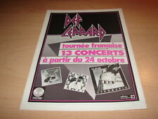 DEF LEPPARD - TOUR 1983!!!!!FRENCH VINTAGE PRESS ADVERT