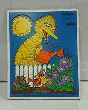 "Vintage Playskool Sesame Street wooden puzzle  ""Big Bird""  - 1979 puzzle toy"