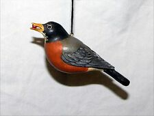 Vintage Robin Figurine Hand Painted Signed Hanger On Back 6""