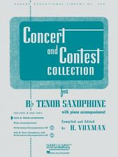Concert and Contest Collection for Bb Tenor Saxophone Solo Part Rubank 004471710