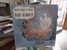Mary marquet : poemes d'amour et poésie - decca  FMT 163074