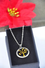 Family Tree of Life Pendant Necklace Child Men Women in Gifts Box