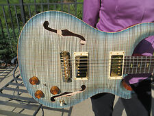 Prs Private Stock Hollowbody 2 One Piece Top / Back Brazilian Fret Glacier Blue
