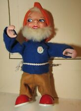 Gnomo di latta e panno lenci made in west Germany gnomes dwarf tin toys