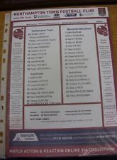 02/05/2015 Colour Teamsheet: Northampton Town v Wycombe Wanderers.  We are pleas