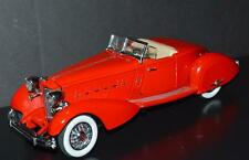 Danbury Mint 1/24 Die Cast Car 1934 Packard V-12 LeBaron Speedster Red Beige