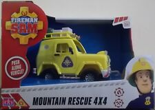 Fireman Sam ~ Mountain Rescue 4X4 Jeep Push Along Vehicle ~ New Style Packaging