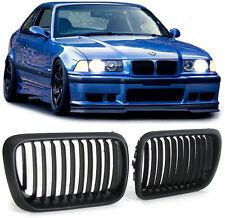 2 GRILLE DE CALANDRE NOIR BMW SERIE 3 E36 PHASE 2 DE 09/1996 A 1999