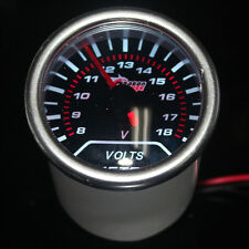 "Pointer 2"" 52mm Car Universal Smoke Len LED Volt Voltage Gauge Meter"