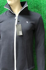 Men's Trendy Sub Seventy Navy Blue Zip Fleece Jacket Sub 70 New Full Zip Small