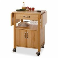 Kitchen Cart With Drop Leaf On Wheels Small Wood Island Table Top Drawer Storage