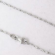 18 inch 14K white gold Raso chain, lobster clasp 3.4 grams 1.0 mm $480
