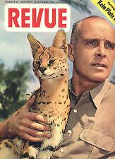 Kult-Illustrierte REVUE Nr. 38 von 1954, Cover Professor Dr. Bernhard Grzimek